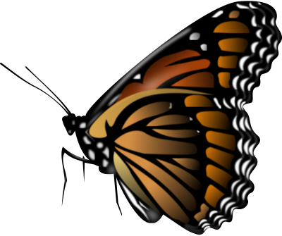 PNG Big Winged Blue Butterfly, Drawing, Cartoon, Bright PNG Images