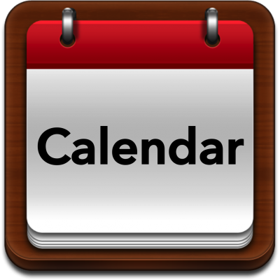 Red Calendar Events Icon Png PNG Images