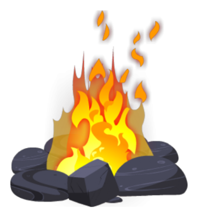 Background Campfire PNG Images