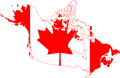 Flag Map Of Greater Canada Png PNG Images