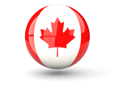 Sphere Icon Of Flag Of Canada Png