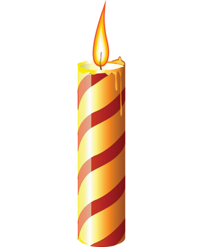 Colorful Candle, Birthday Candle PNG, Single Candle, Fire