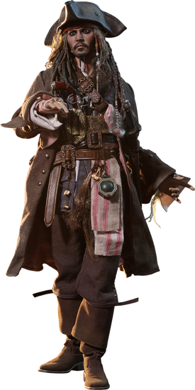 Jack Sparrow Sixth Scale Figure Png PNG Images