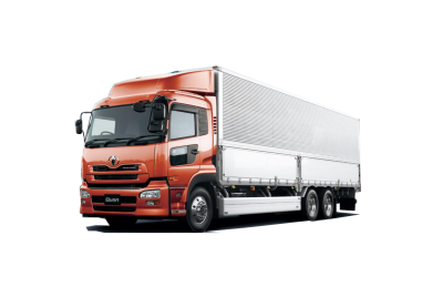 Orange Cargo Truck Png PNG Images
