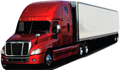 Red Cargo Truck Png Transparent