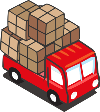 Trucks Red Open Safe Icon Png