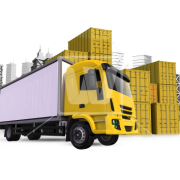 Yellow Cargo Truck Png Images