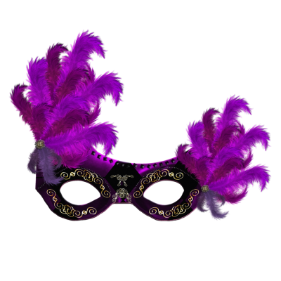 Black And Purple Carnival Mask Png Transparent