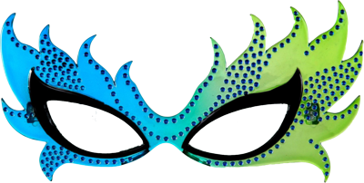 Blue Carnival Mask Transparent Images