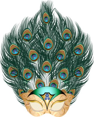 Guinea Pig Beautiful Carnival Mask Png PNG Images