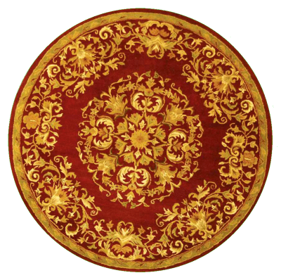 Round, Red, New, Gold, Carpet Png