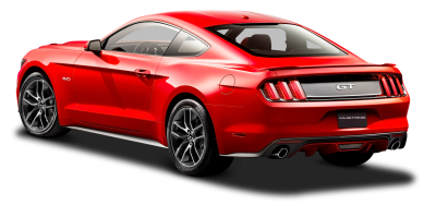 Red Mustang Car Rear View Download PNG Images