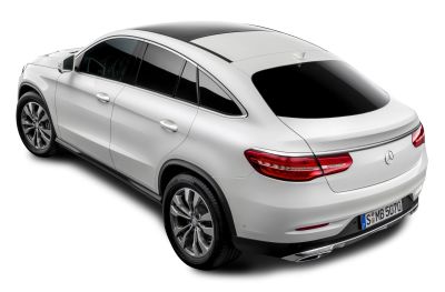 Mercedes Benz Back View White Car Image, To Drive, Steering, Gas, Brake PNG Images