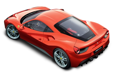 Red Ferrari Top View Car Clipart PNG Images