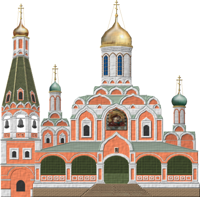 Kazan Cathedral Moscow Pictures PNG Images