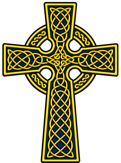 Celtic Cross Clipart Yellow Png PNG Images