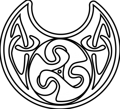 Celtic Necklace Black White Line Art Coloring Sheet Picture PNG Images