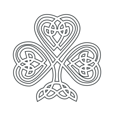 Celtic Shamrock Flower Coloring Book Png PNG Images