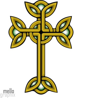 Gold Celtic Cross Png
