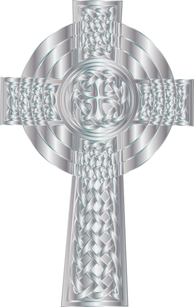 Silver Celtic Cross Png Clipart