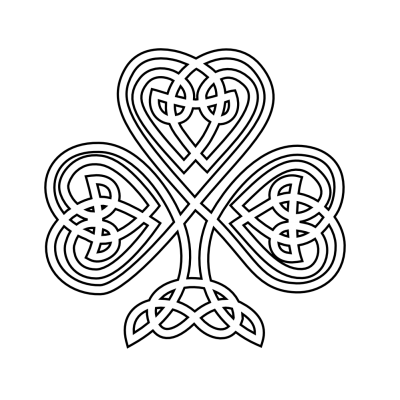Celtic Shamrock Black White Png PNG Images