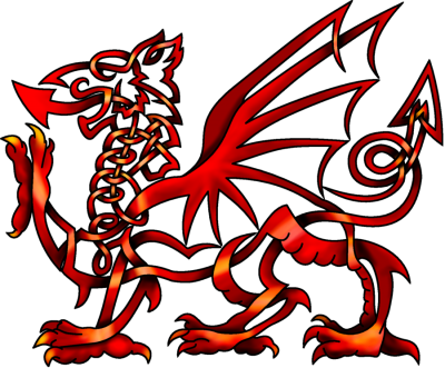 Red Celtic Knot Welsh Dragon Png Images PNG Images