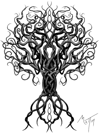 Tree Celtic Tattoos Png Transparent