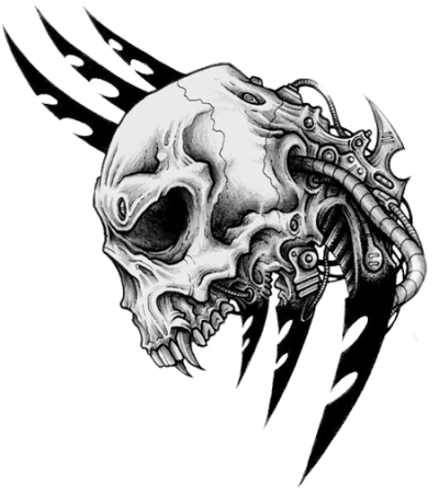 Tribal Skull Tattoos Png Transparent
