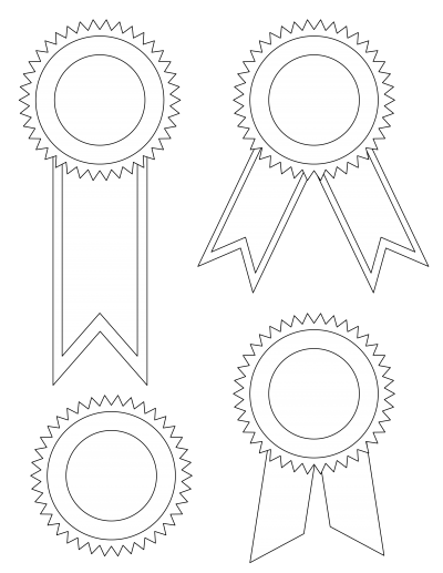 Award Ribbons Template Png