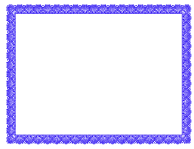 Blue Certificate Border Clipart Pic PNG Images