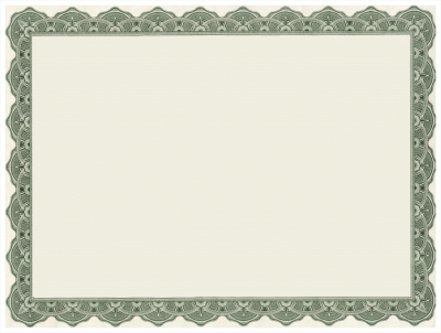 Certificate Border Word Images