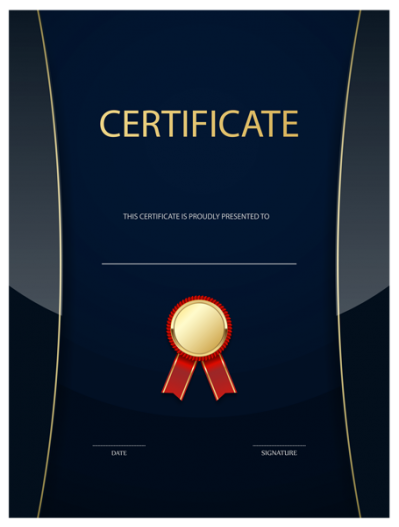 Dark Certificate Templates Png PNG Images