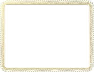 White Certificate Border Images PNG Images