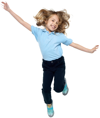 Bouncing Girl Children Free Download PNG Images