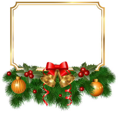 Beautiful Gold Frame Christmas Border Background Png PNG Images