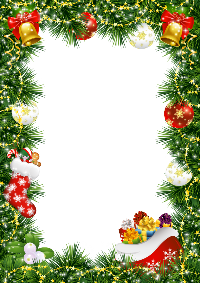 Bell Hanging Christmas Border Tree Transparent Background Png PNG Images