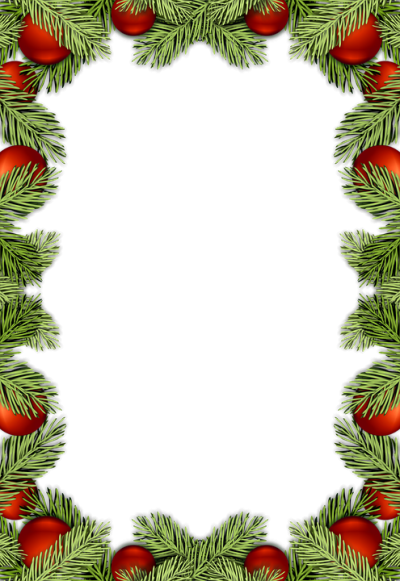 Christmas Ball Border Clipart Transparent PNG Images