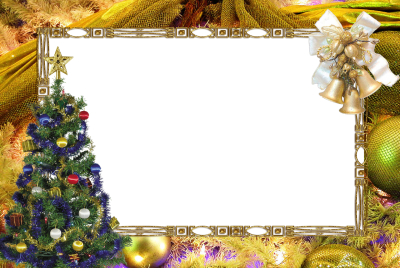 Christmas Border Frame Bell, Christmas Tree Png PNG Images