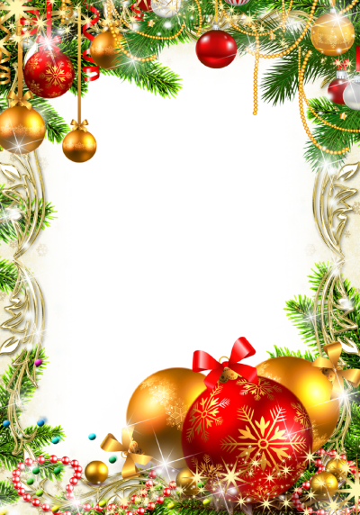 Christmas Border Ornaments Transparent Png Background PNG Images