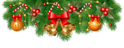 Christmas Border Ribbon Bell Transparent Png Background PNG Images