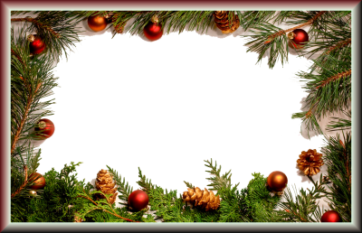 Real Tree Orament Christmas Border Frames Pictures Wallpaper PNG Images