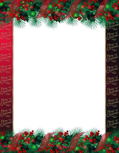 Red Merry Christmas Border Png Photo Frame PNG Images