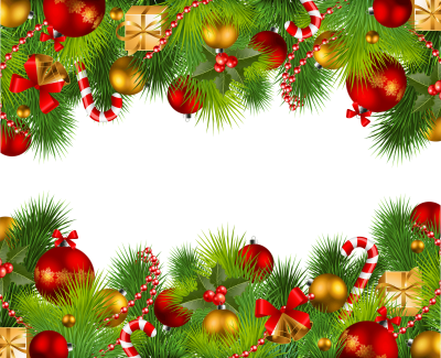 Wonderful Christmas Border Png Picture PNG Images