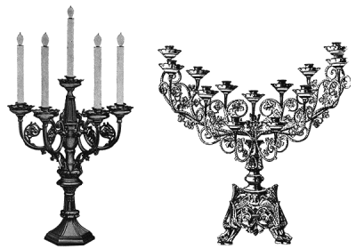 Beautiful Art Decor Church Candles PNG Images