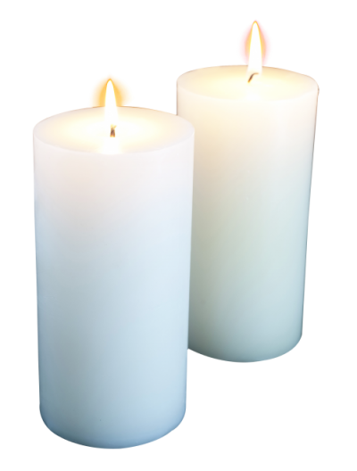 White Church Candles Background