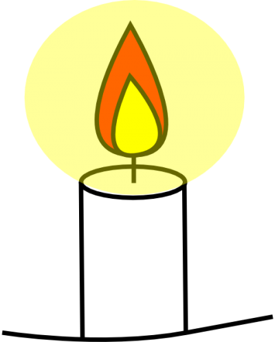 Church Candles Clipart Vector