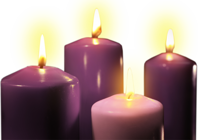 Church Candles Purple Clipart Transparent
