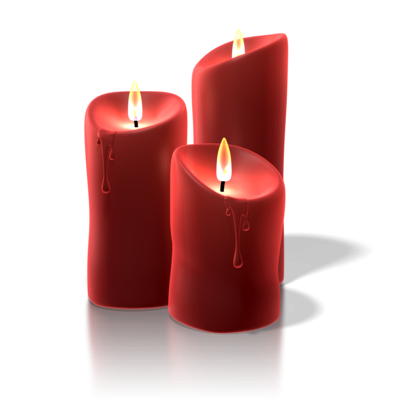 Church Candles Pink Clipart PNG File