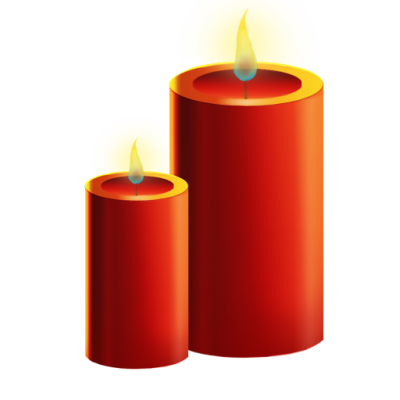 Red Church Candles Transparent Picture