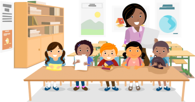 Black Female Teacher With Toddlers in Kindergarten Hd Transparent PNG Images